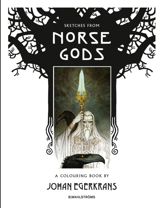 Omslagsbild: Sketches from Norse Gods - A Colouring Book